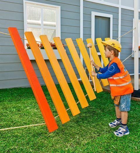 Build a giant xylophone that your kids will love.