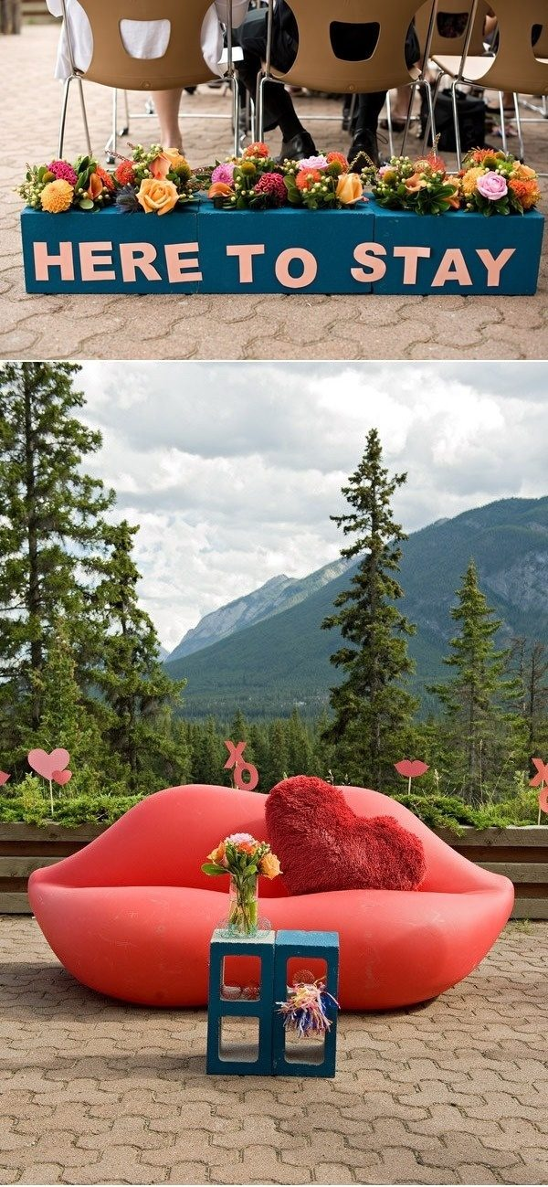 Paint your cinderblocks and use them as an outdoor coffee table or flower box.