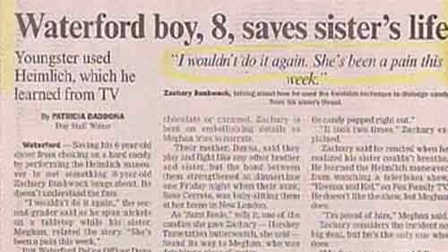 Newspaper funny articles