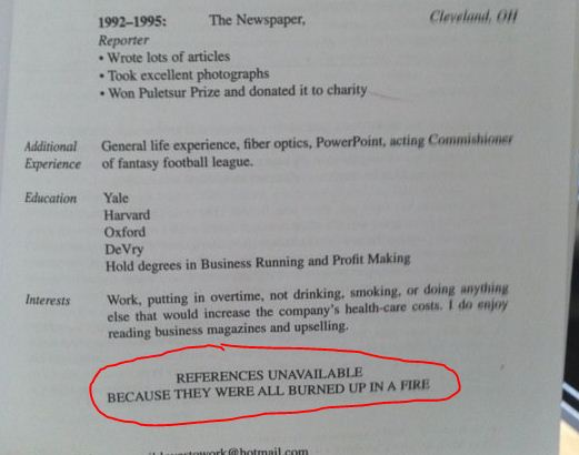 20 hilarious resume fails i m guessing they did not get the job