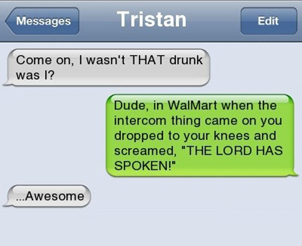 22 funny drunk text conversations