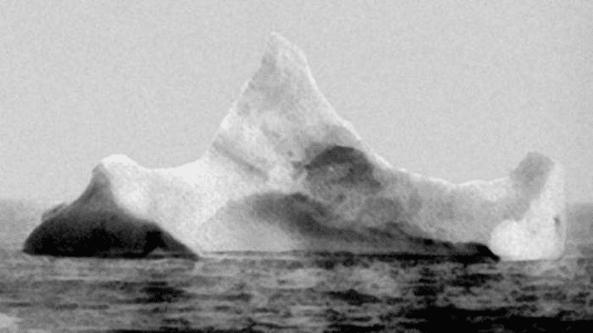 2.) 1912 - The iceberg believed to have sunk the Titanic.
