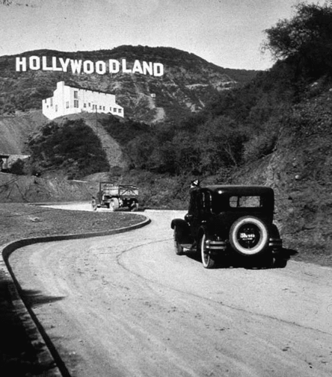 9.) 1923 - The Hollywood sign right after it was built.