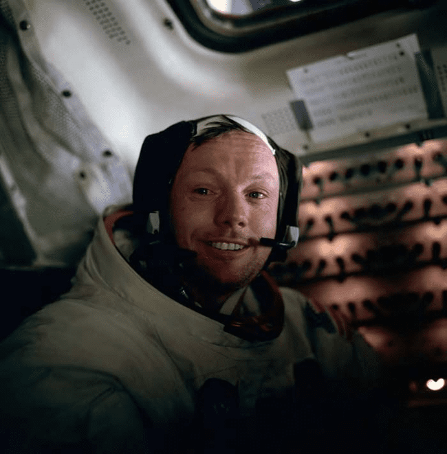 12.) 1969 - Neil Armstrong right after he walked on the moon.