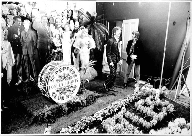 11.) 1967 - The Beatles' shoot for Sgt. Pepper's Lonely Hearts Club Band.