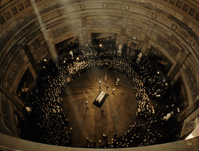 23.) 1963 - JFK's funeral in the Capitol Building.