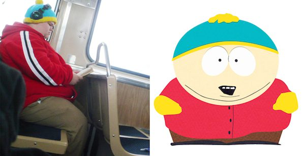 Cartman and this kid that looks exactly like him