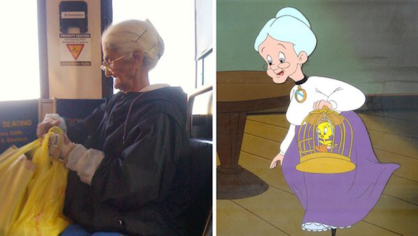 This grandmother and the grandma from Looney Toons