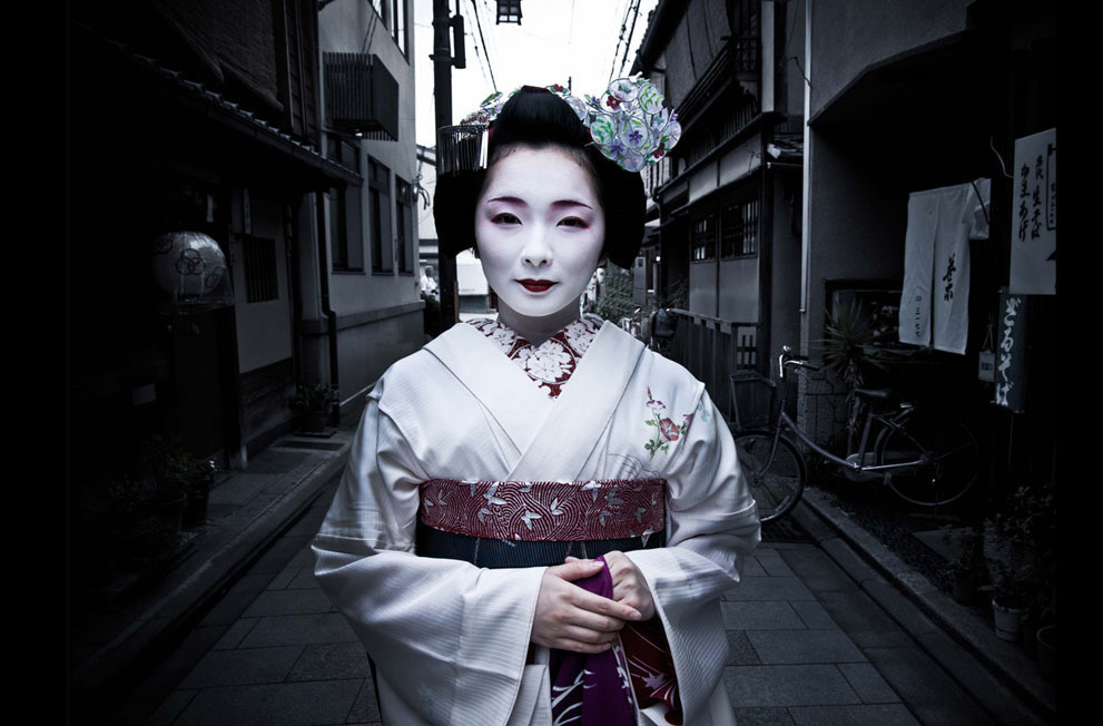 Toshimana, an apprentice Maiko in Kyoto.