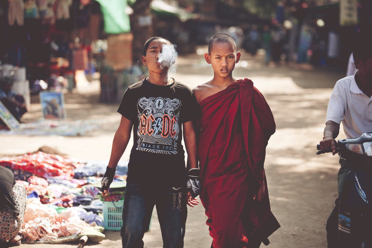 A monk and his brother.