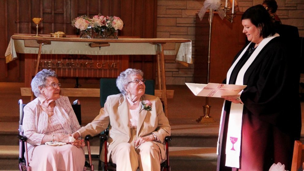 Iowa couple of 72 years finally gets married.