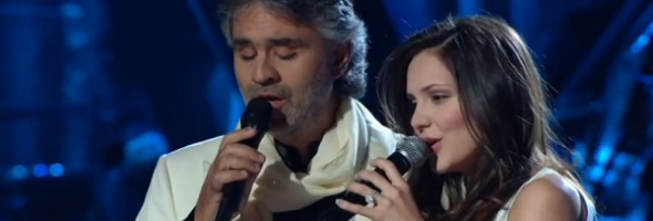 Andrea Bocelli and Katharine Mcphee