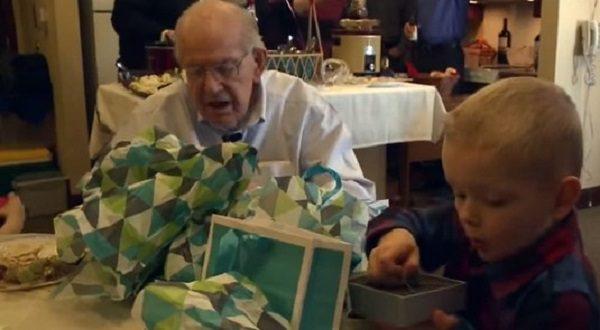 4 Year Old Boy Gives His 90 WWII Veteran Friend A Heartfelt Birthday Gift
