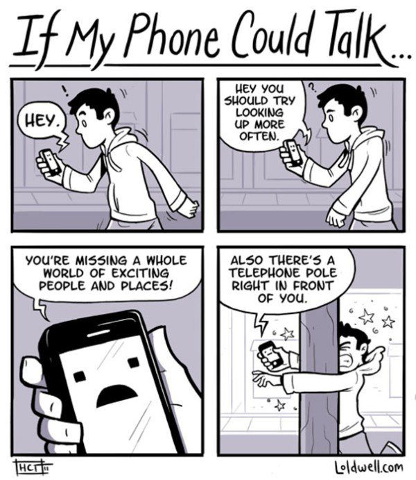 40 Cartoons That Illustrate Exactly How Smartphones Control Our Lives