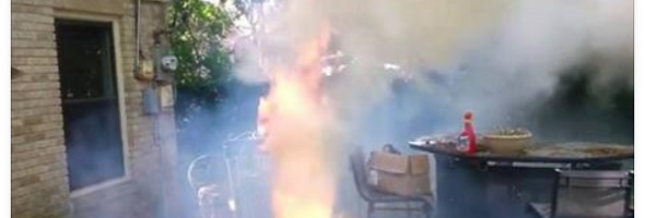 leaf blower volcano