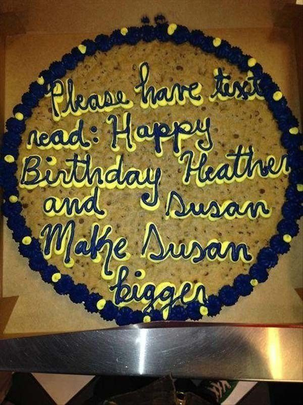 cake funny messages hard failing