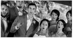 wedding photo fall