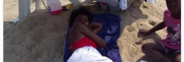 lifeguard caught sleeping