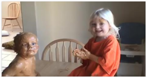 Girl Covers Her Little Brother in Peanut Butter