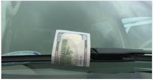 fake hundred dollar bill scam