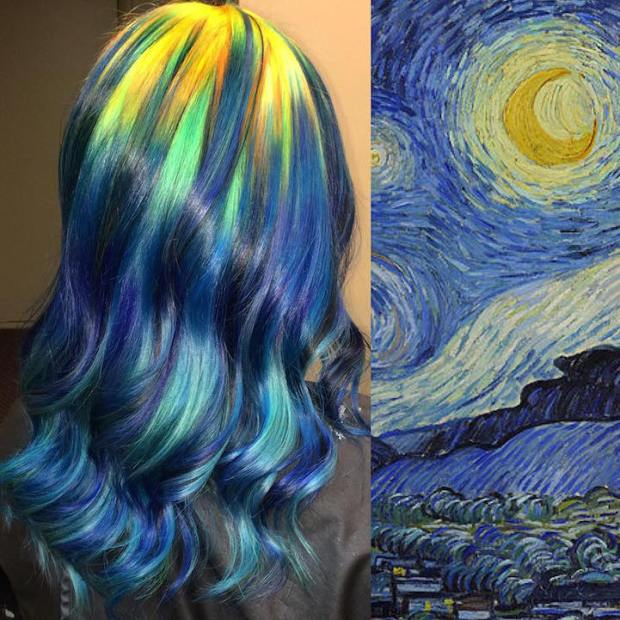 Hair Colors Inspired By Famous Artworks 1