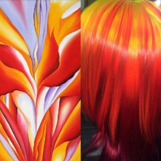 Hair Colors Inspired By Famous Artworks 8