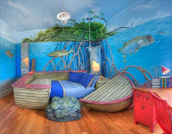 21 cool bedroom designs that your children will never want for Cool kids bedroom designs