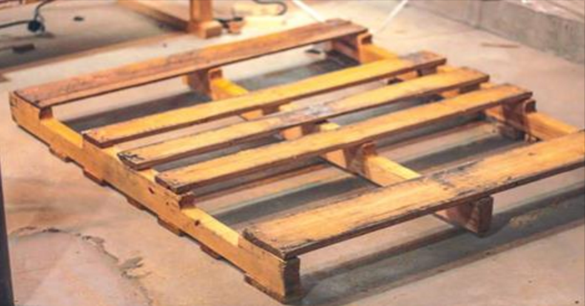 When He Bought This Old Wooden Palette From Craigslist And Turned It Into This…