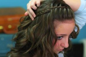 DIY waterfall hairstyle