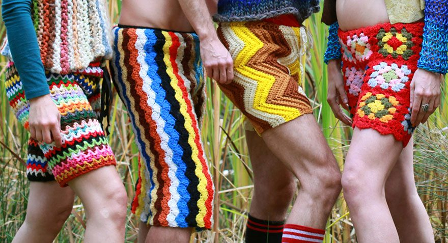 crocheted vintage shorts for men 1