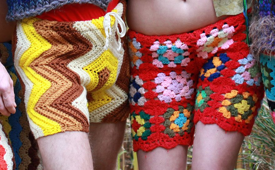 crocheted vintage shorts for men 3