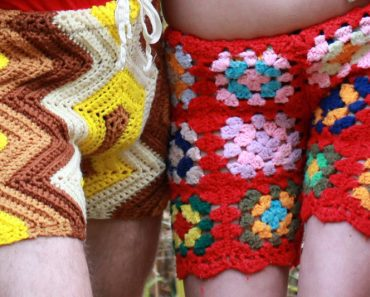 crocheted vintage shorts for men
