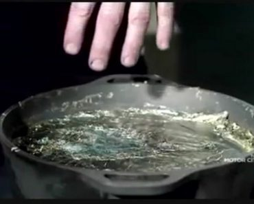 hand in molten lead
