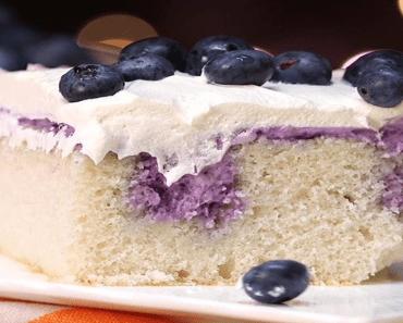 Blueberry Cheesecake Poke Cake