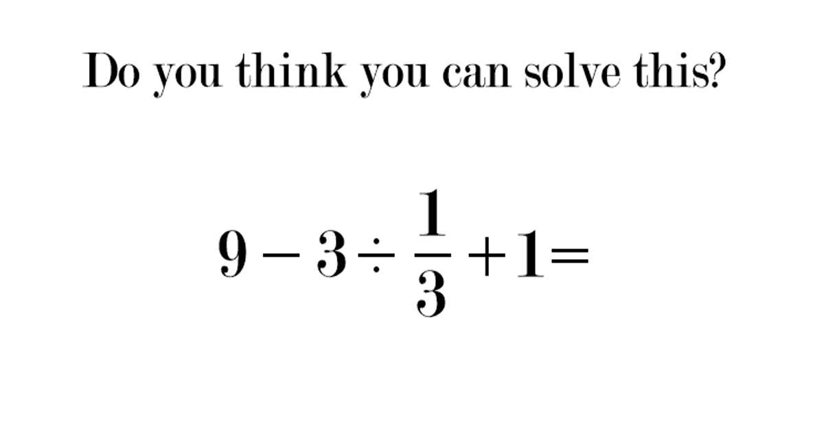 Can You Solve This Elementary School Math Problem That\'s Stumping 9 ...