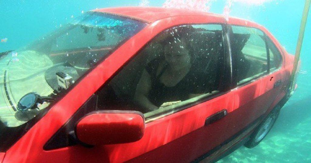 escape sinking car