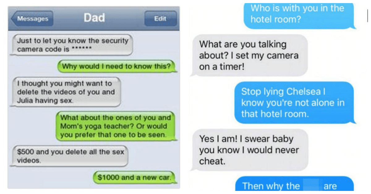 cheating texts with pictures