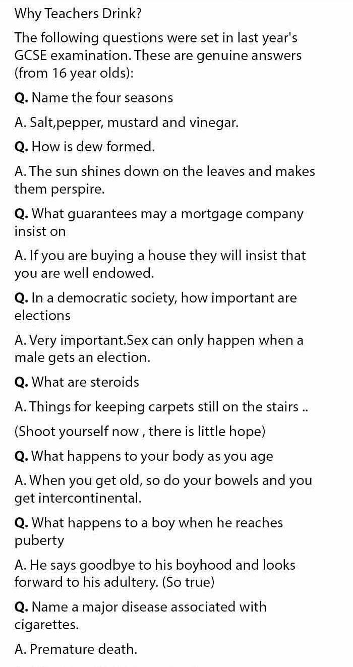 Funny Q & A 1