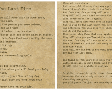 the last time poem
