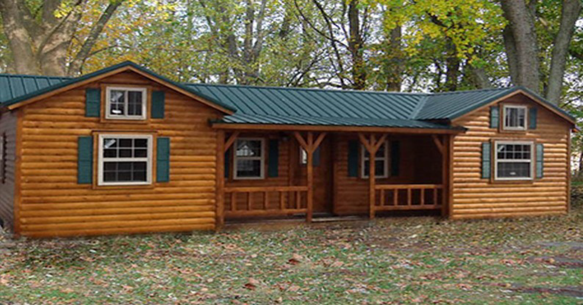 Live Comfortably In An Amish Log Cabin Kit For Under 17k