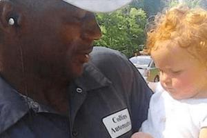 repairman saves baby girl