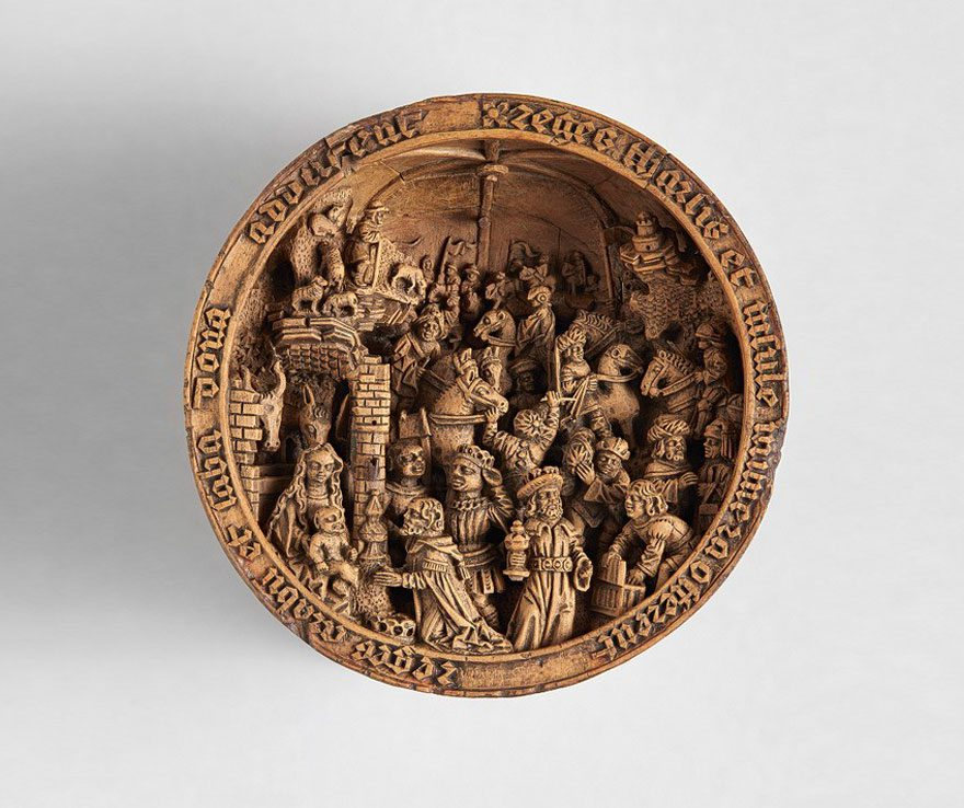 Year old boxwood carvings are so miniature that only