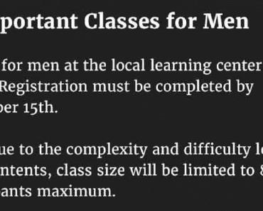 classes for men
