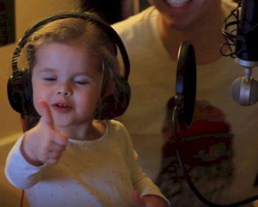 little girl sings favorite song