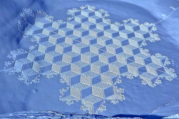 simon beck snow art