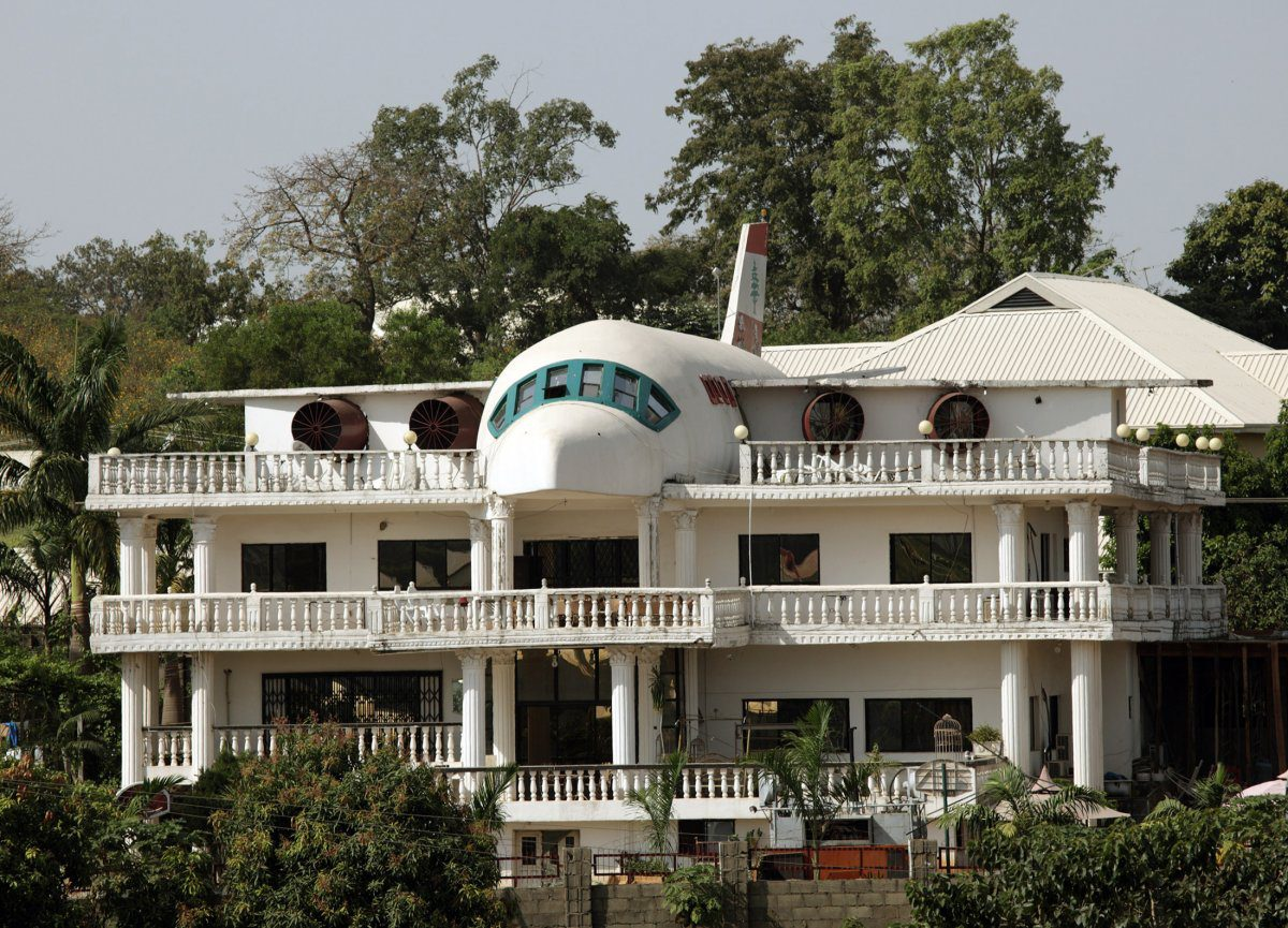 This Home In Nigeria Was Partially Designed In The Shape Of An Airplane Its In The