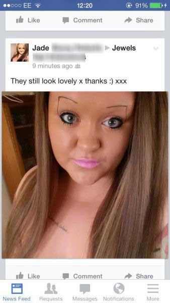 Eyebrow Fails Facebook Jpg Newslinq