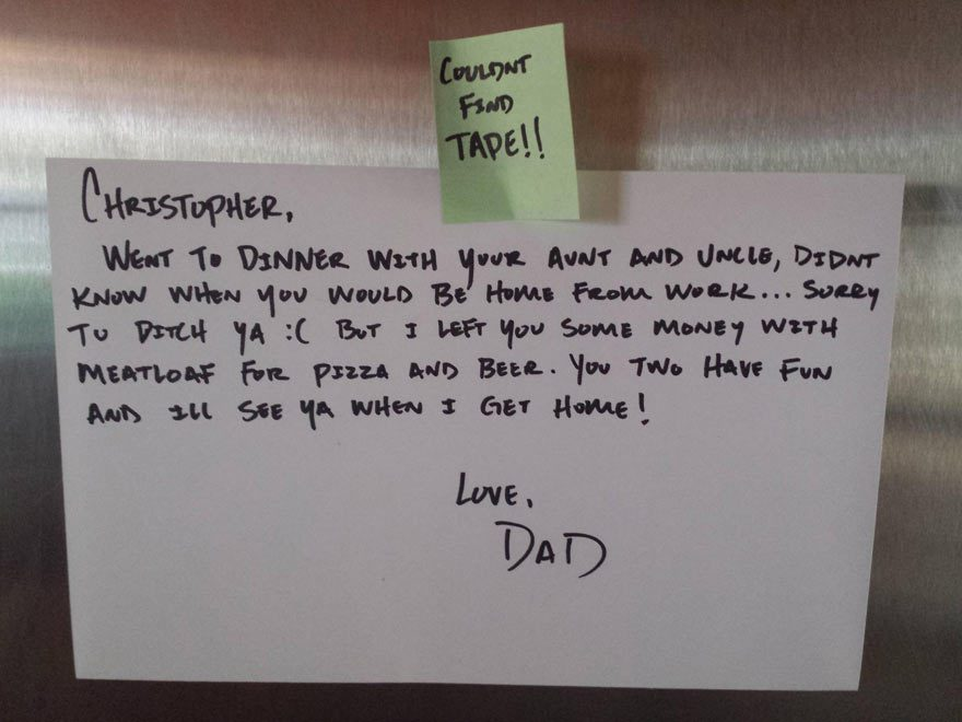 15 Funny Notes People Left For Their Friends And Family
