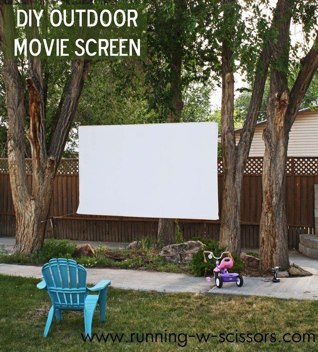 Making an outdoor movie screen is easier than you think.