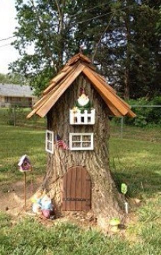 """Turn a tree stump into a """"gnome home,"""" or fairy garden."""